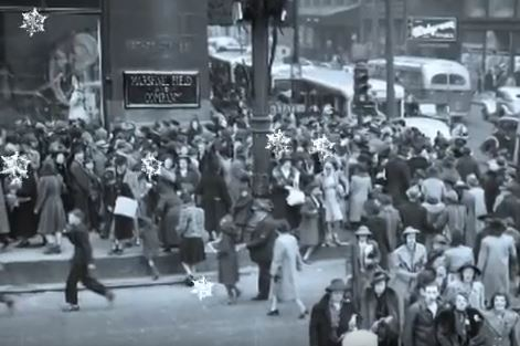 Crowds at Field's Windows, 1950s